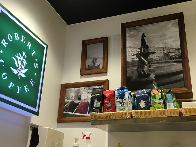 ムーミンコーヒースタンド【Rober's Coffee】春の新作!抹茶のシルエットラテ