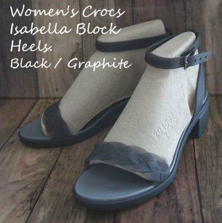 25-26㎝の大きい足でも華奢に見えるクロックスイザベラ ブロック ヒール ウィメン
